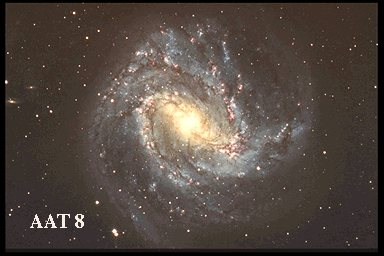 M83, barred spiral SBc